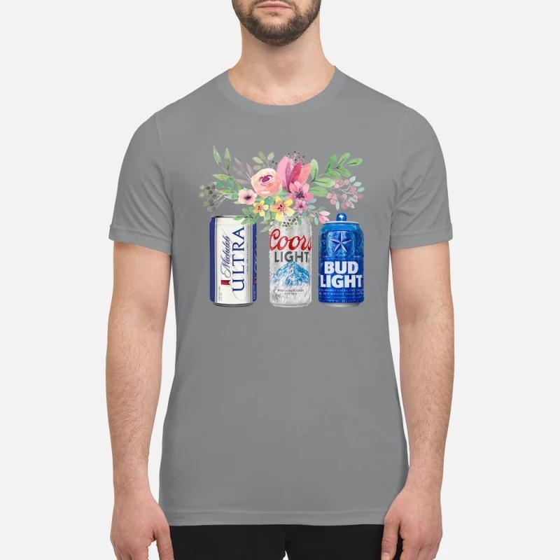 Flower michelob ultra coors light bud light beer premium shirt