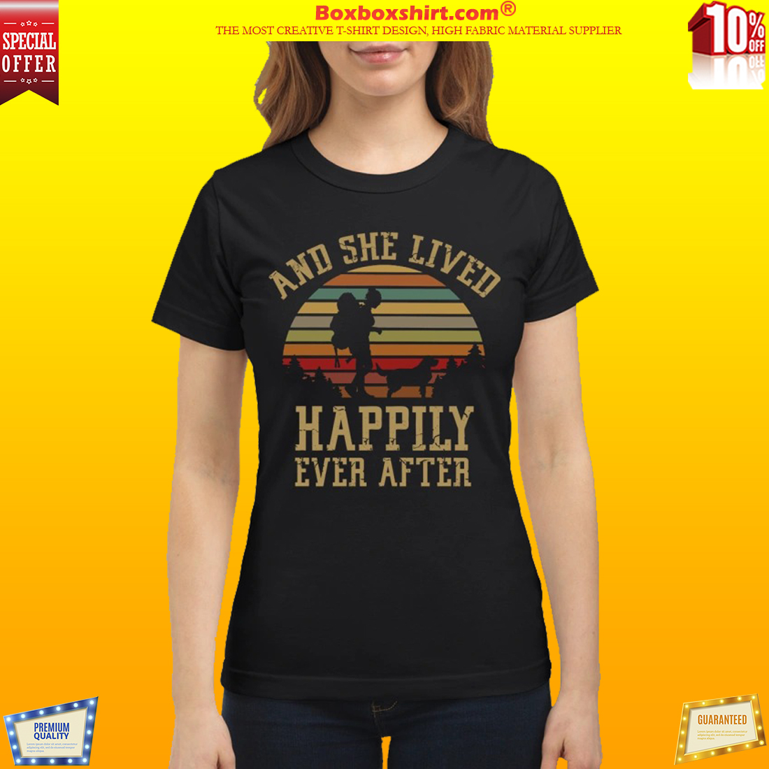 Girl and she lived happily ever after vintage shirt