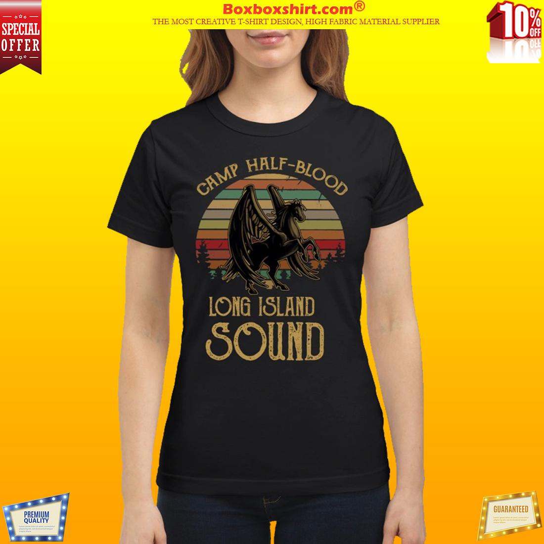 Horse Dragon camp half blood long island sound classic shirt