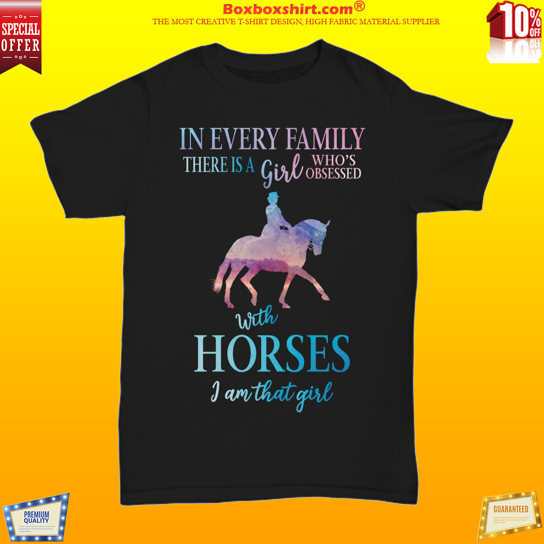 In every family there is a girl who obsessed with horses shirt