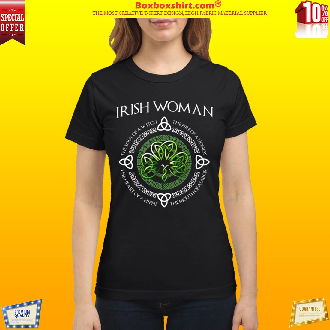 Irish Woman the soul of a witch the heart of a hippie shirt