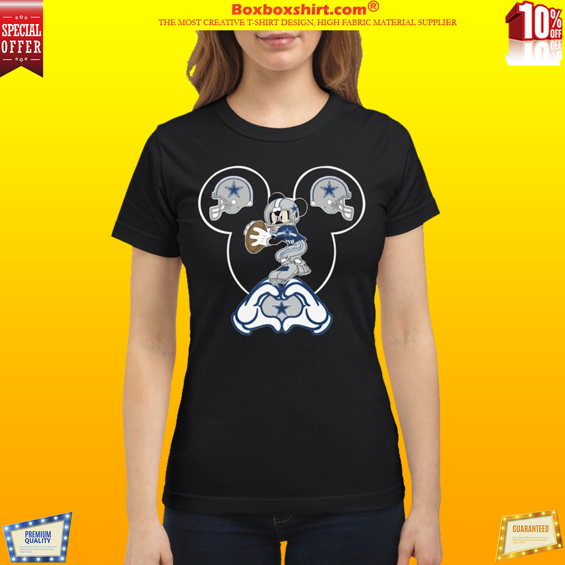 Mickey Mouse Dallas Cowboys classic shirt