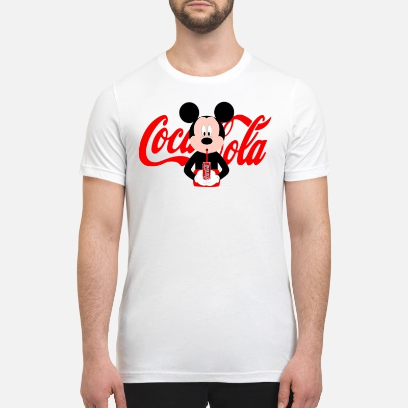 Mickey Mouse drinks coca cola premium shirt