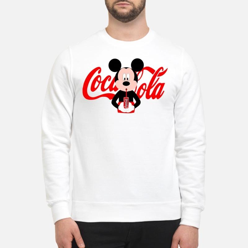 Mickey Mouse drinks coca cola sweatshirt