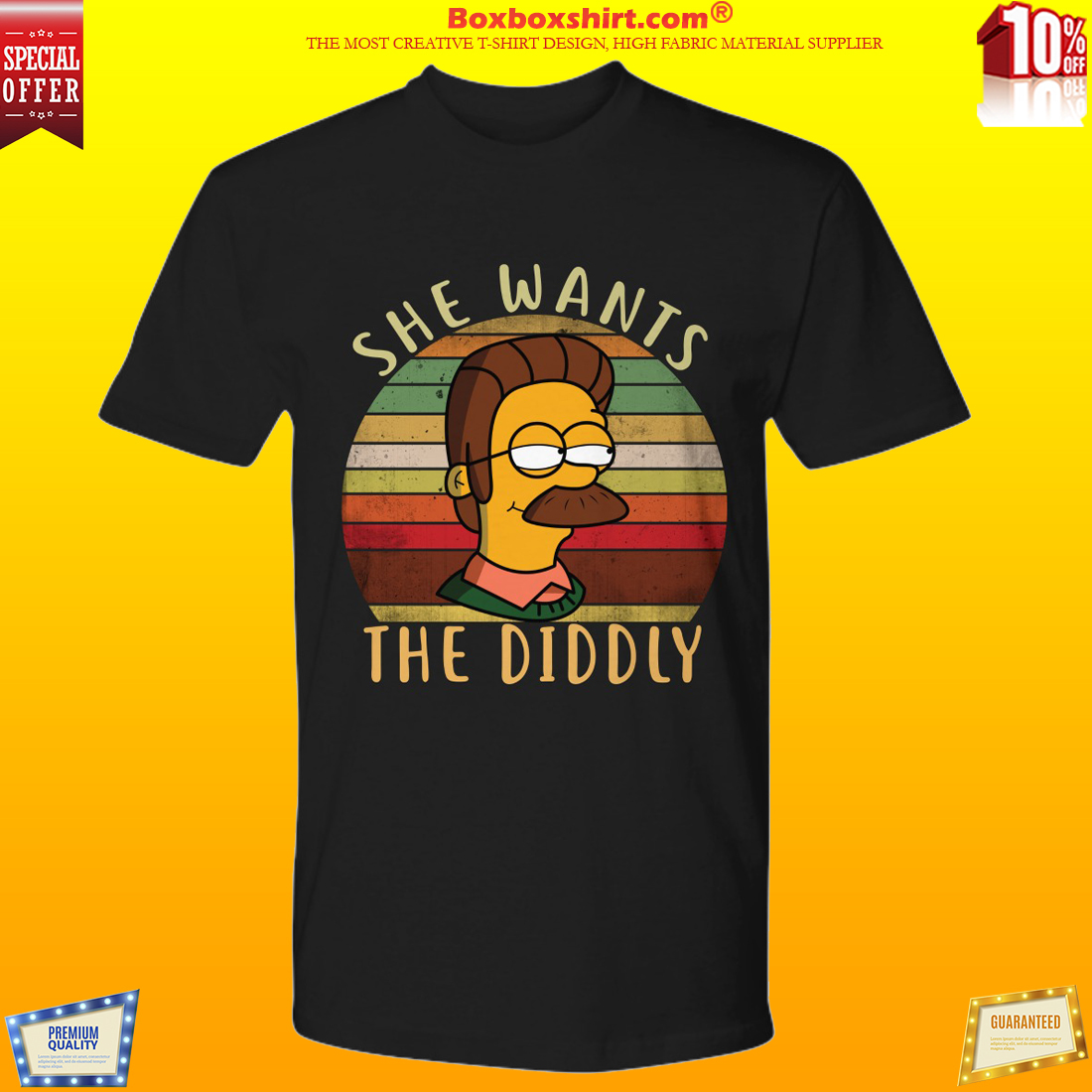 Ned flanders simpsons she wants the diddly shirt