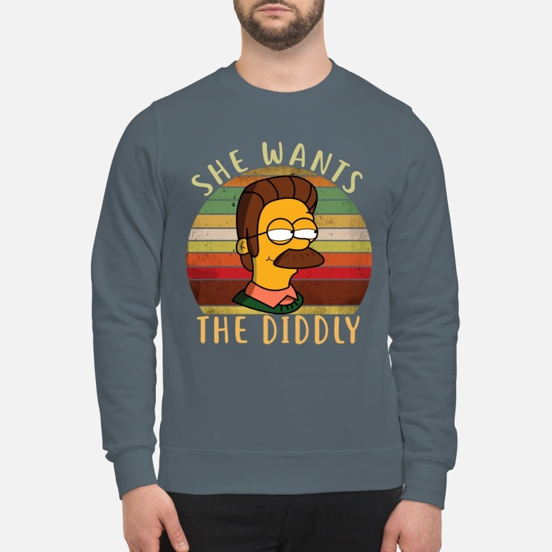 Ned flanders simpsons she wants the diddly sweatshirt