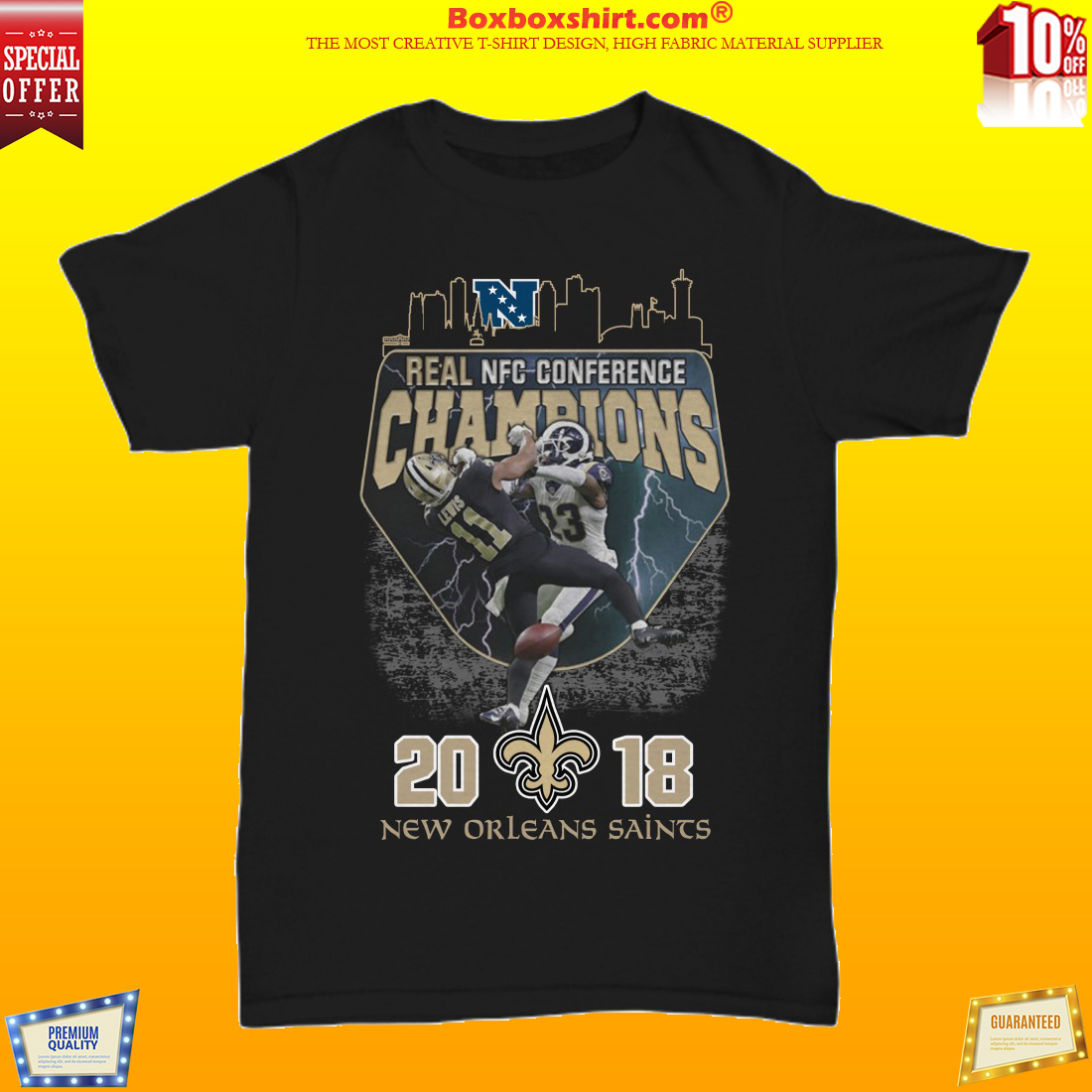 Real NFC Conference champions 2018 Saints unisex shirt