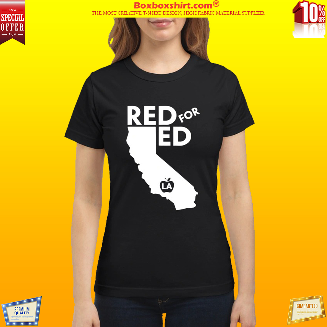 Red for ed California classic shirt