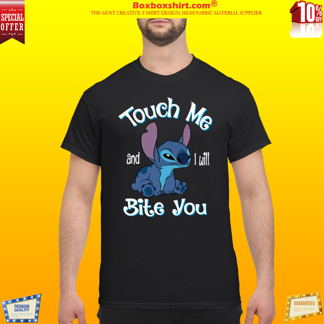 Stitch Touch me and I will bite you classic shirt
