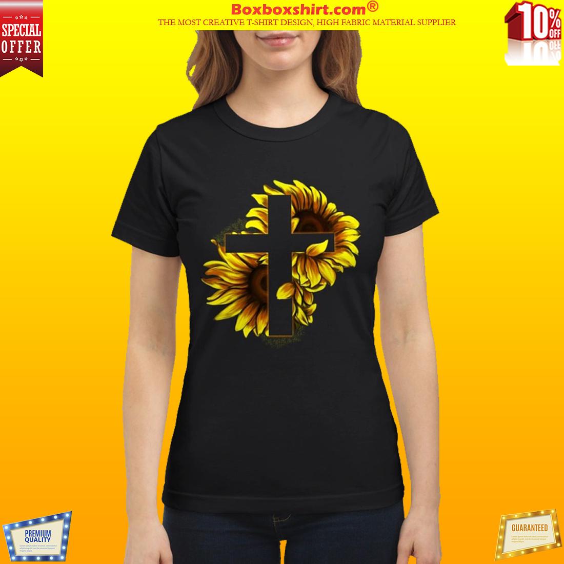 Sunflower Christian Cross classic shirt