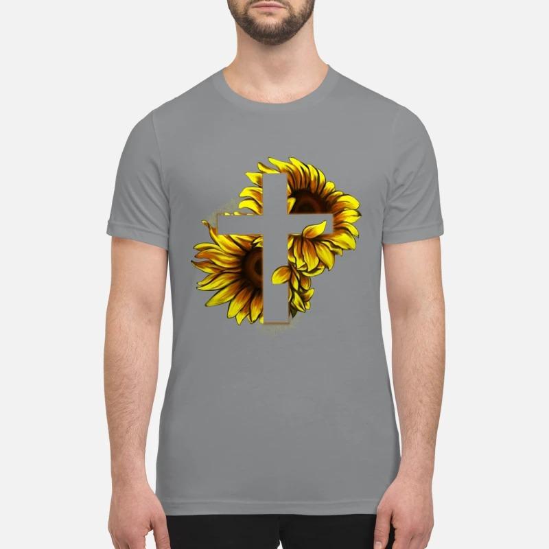 Sunflower Christian Cross premium shirt
