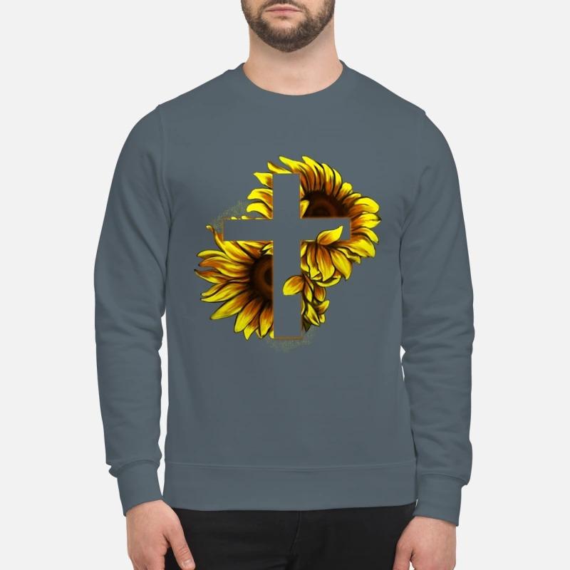 Sunflower Christian Cross sweatshirt