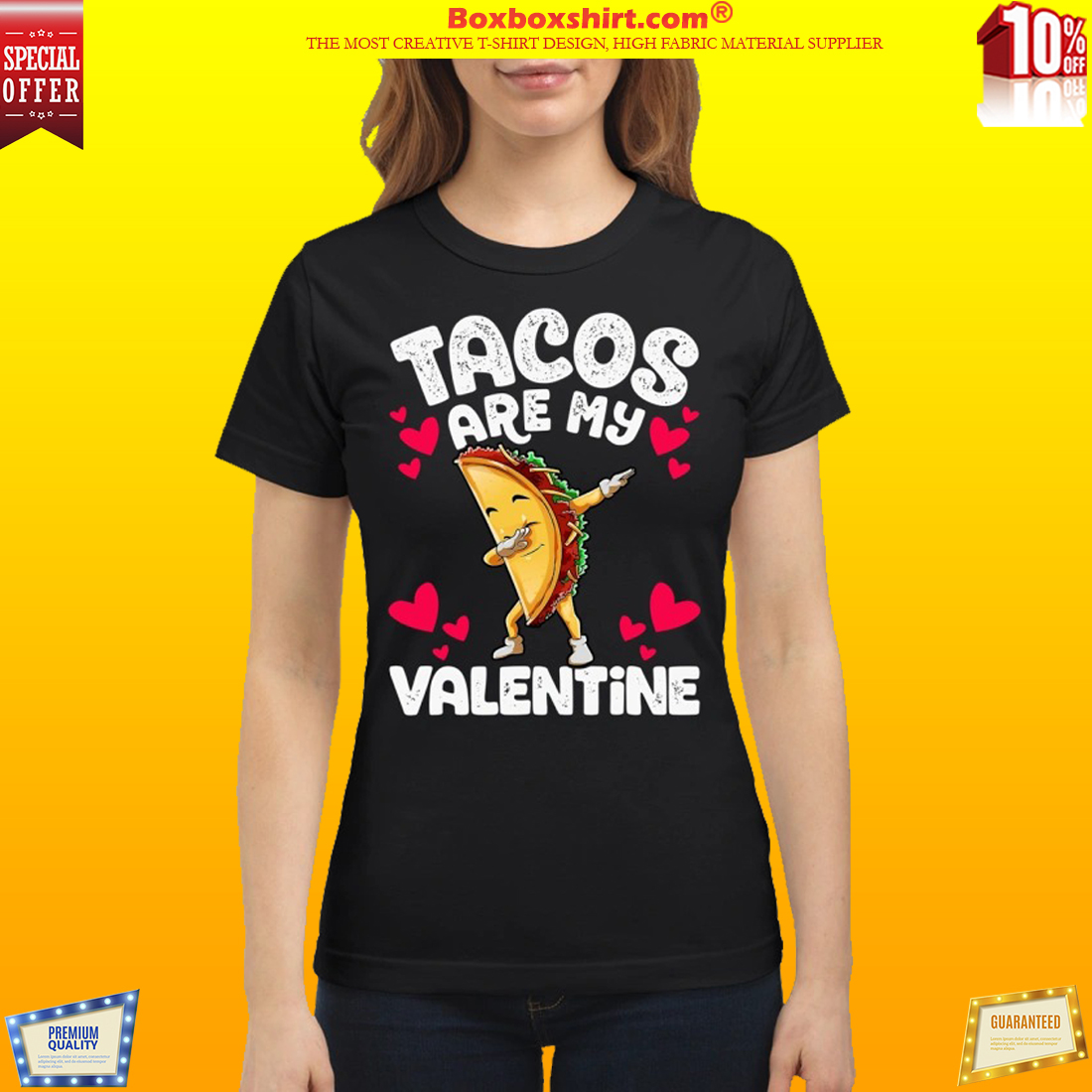 Tacos are my valentine shirt