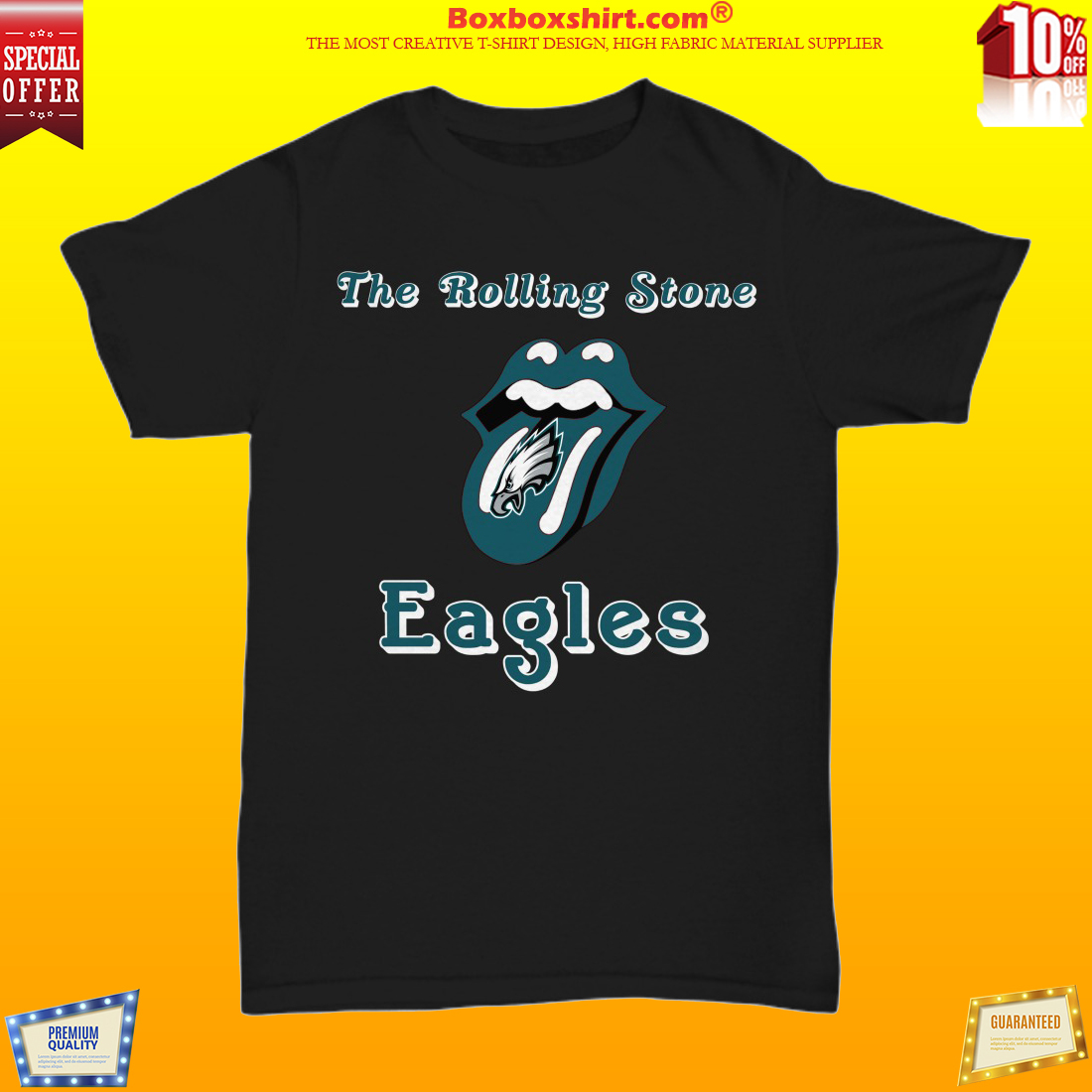 The rolling stone Philadelphia Eagles shirt
