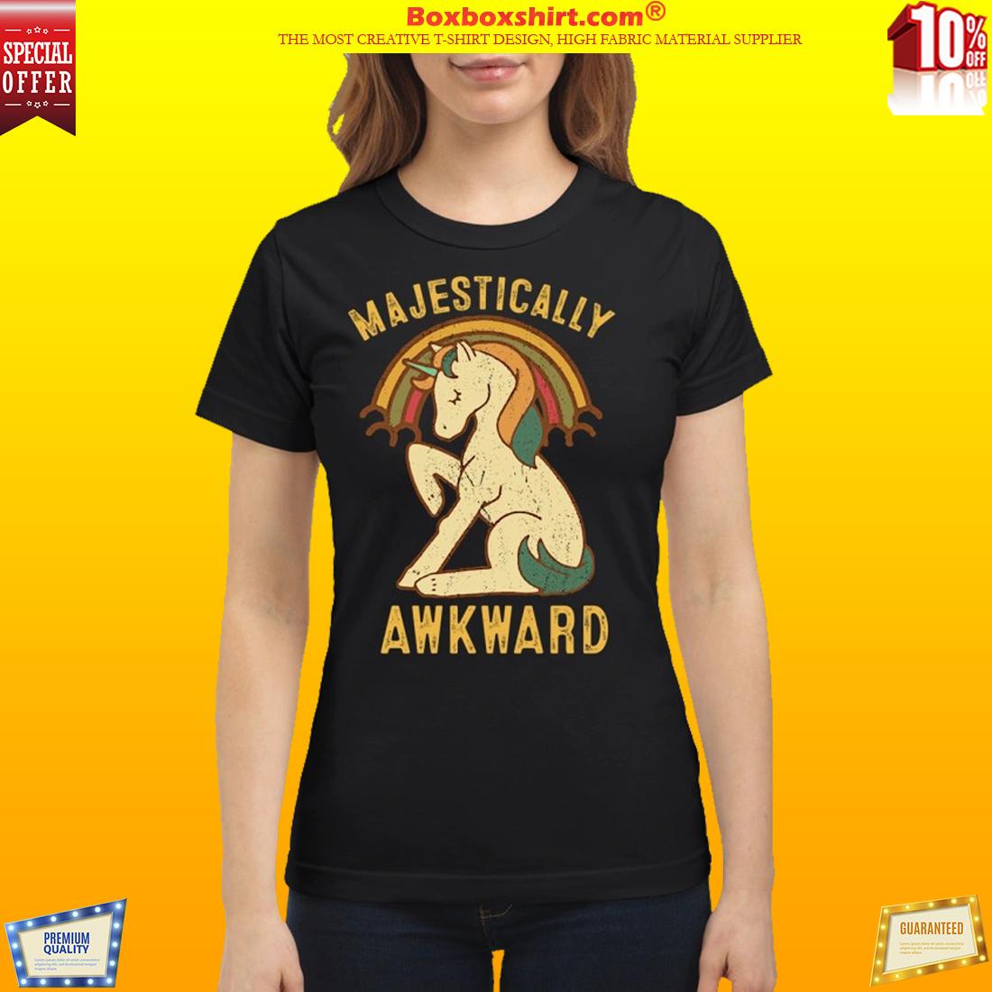 Unicorn Majestically awkward vintage shirt