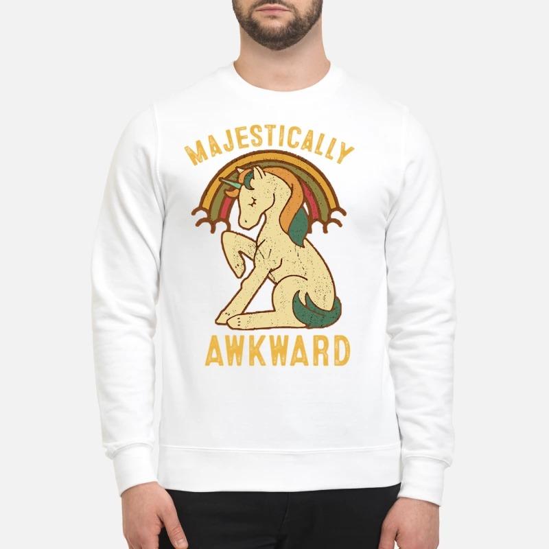 Unicorn Majestically awkward vintage sweatshirt