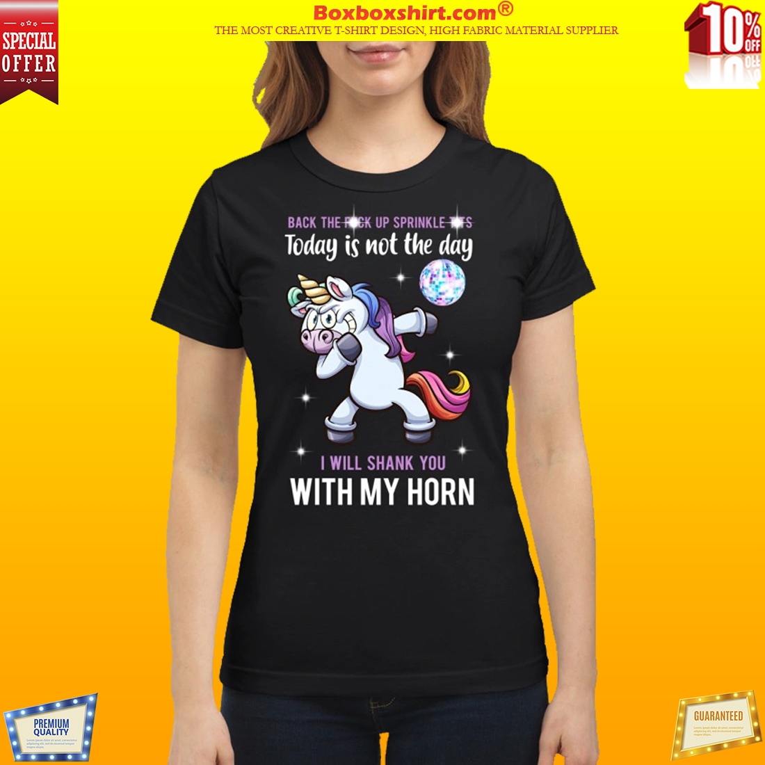 Fucked Up Tits unicorn dance back the fuck up sprinkle tits today is not the day shirt
