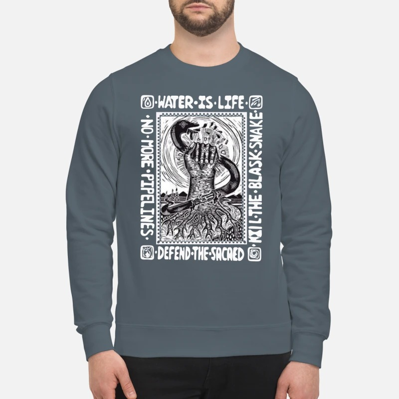 Water is life defend the sacaed kill the blask snake sweatshirt