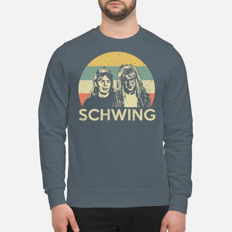 Wayne campbell and Garth algar Schwing sweatshirt