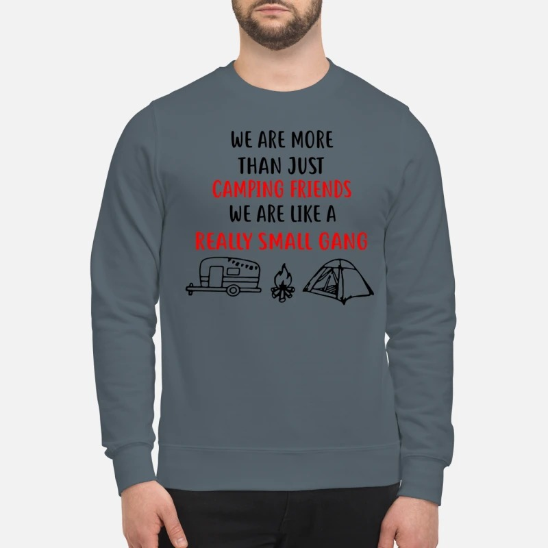 We are more than just camping friends like a really small gang sweatshirt