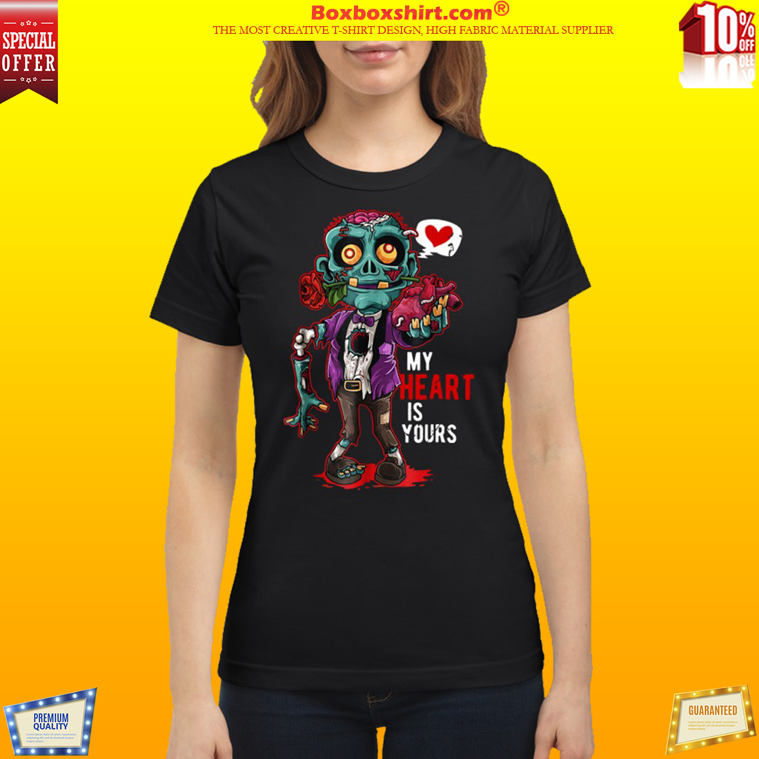 Zombie My Heart Is Yours classic shirt
