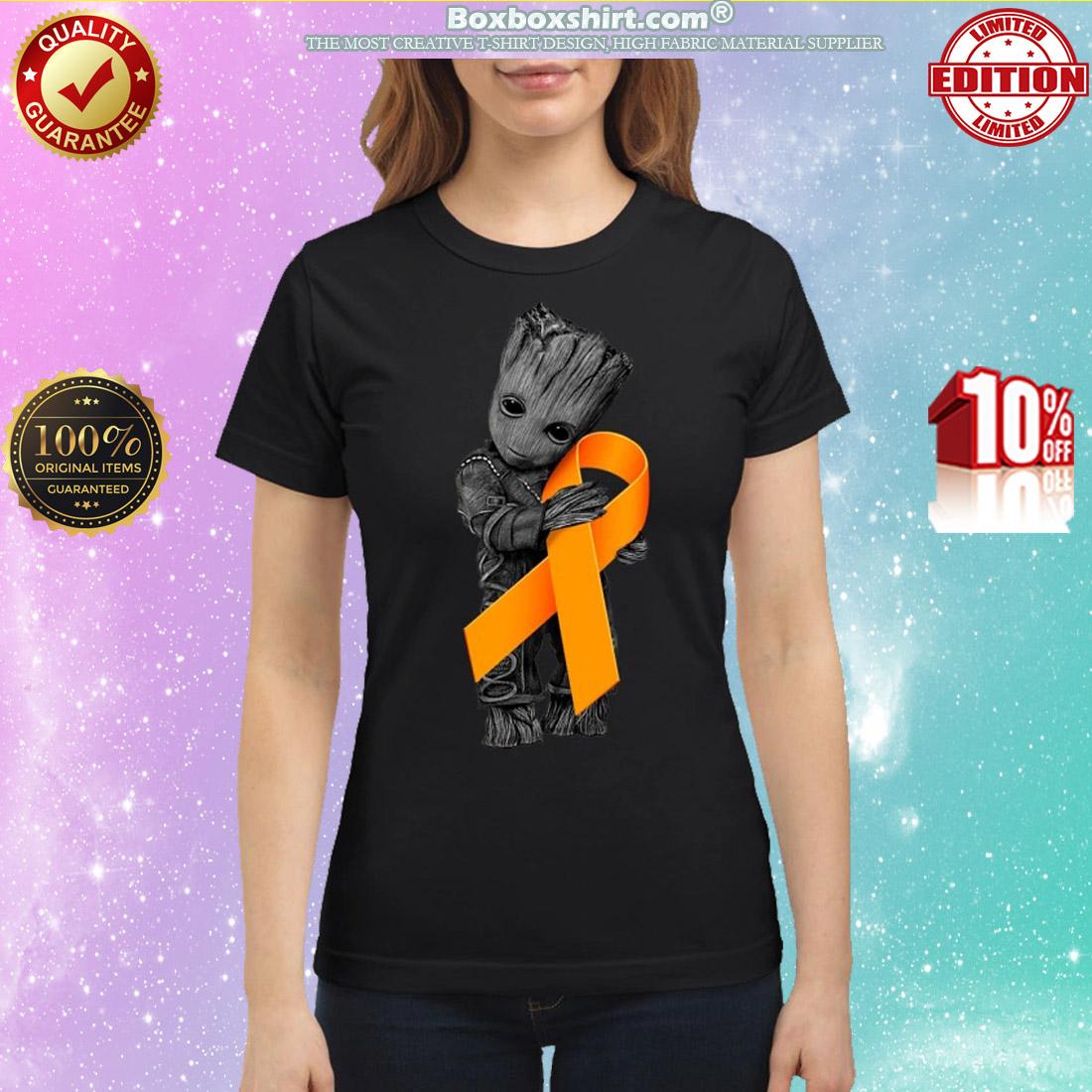 Baby Groot Hug Orange Ribbon classic shirt