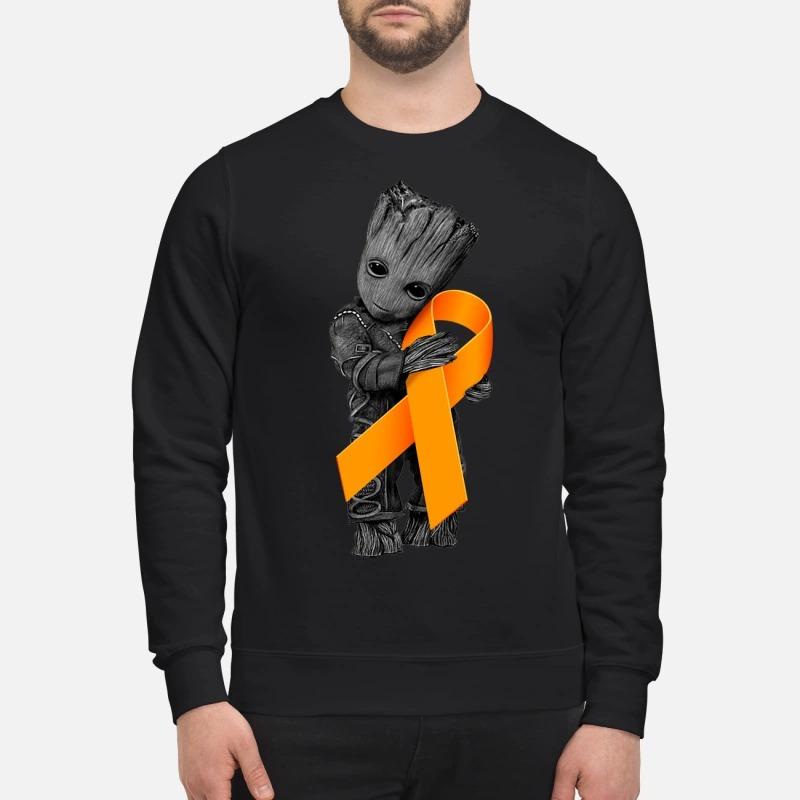 Baby Groot Hug Orange Ribbon sweatshirt