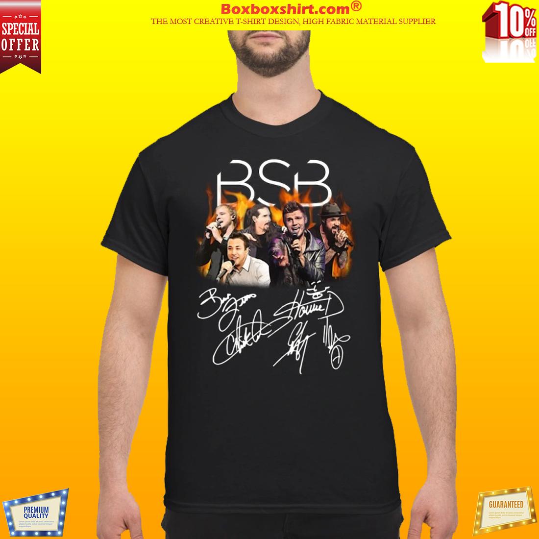 Backstreet Boys signature classic shirtBackstreet Boys signature classic shirt
