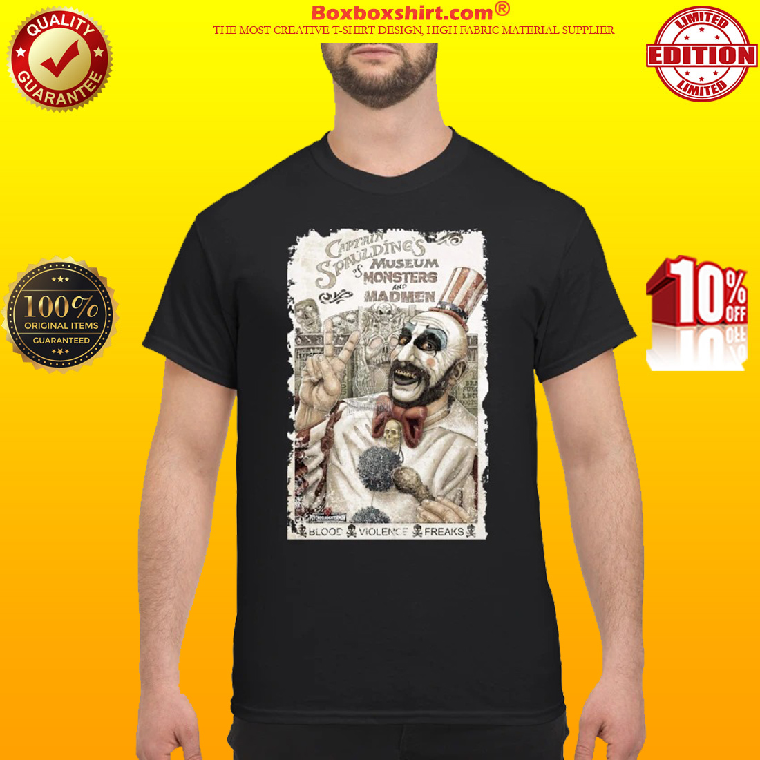 Captain Spaulding museum of monsters and madmen shirt
