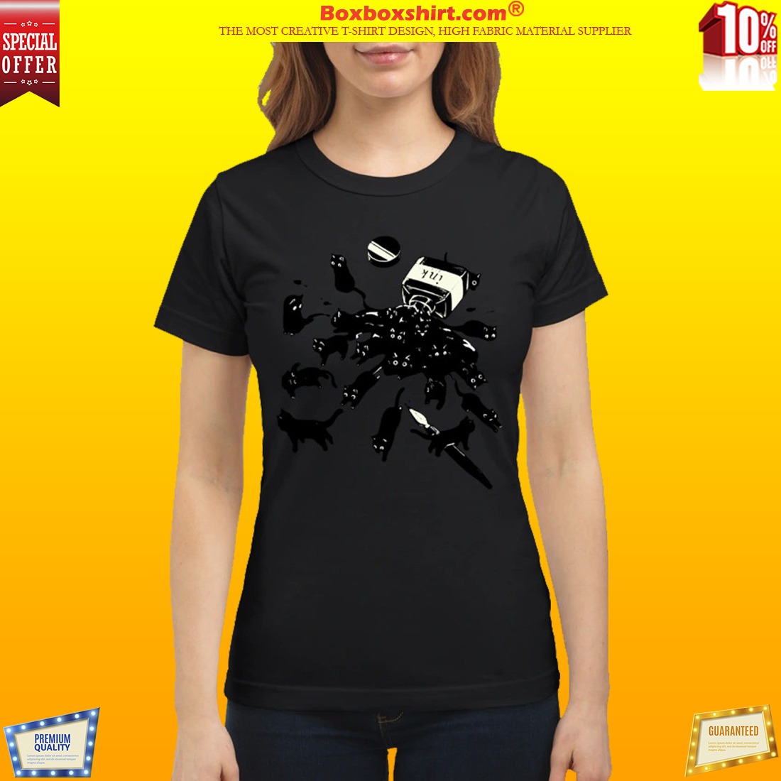 Cats in ink bottle classic shirt
