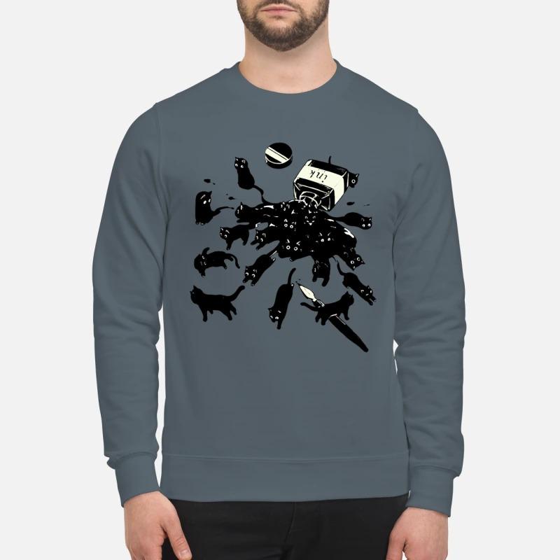 Cats in ink bottle sweatshirt