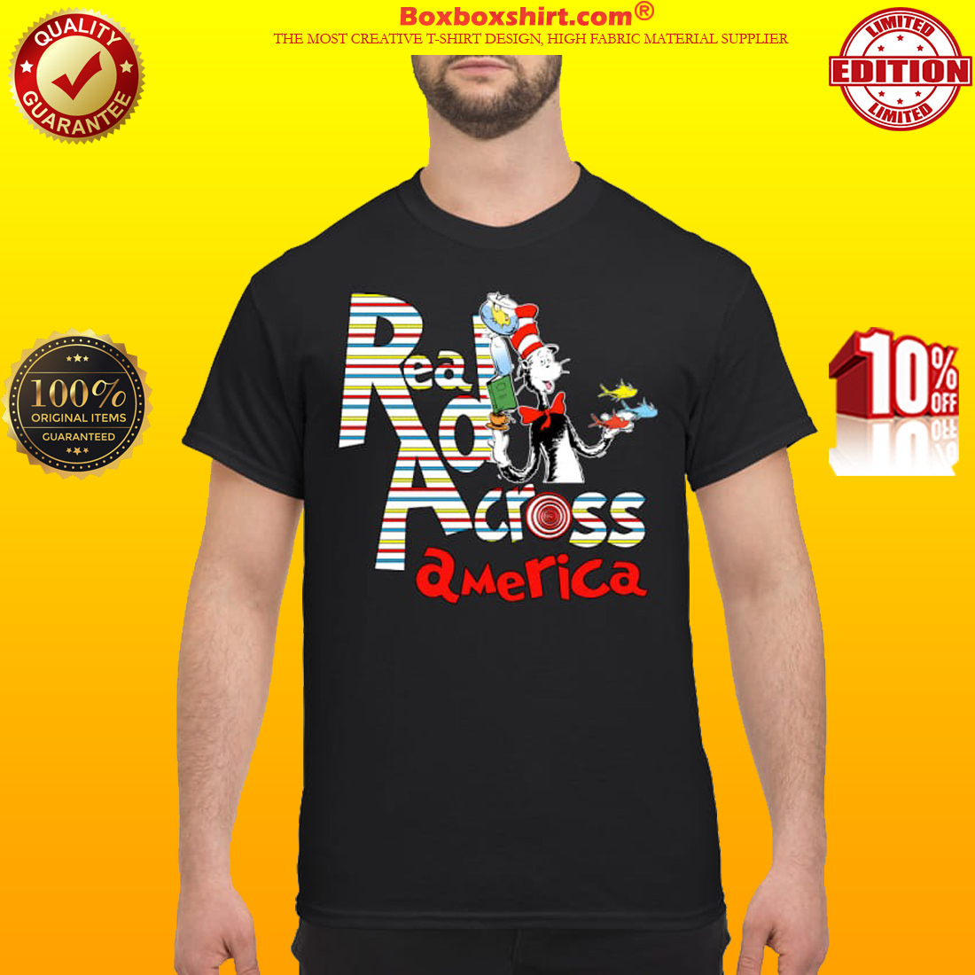 Dr Seuss cat in the hat read accross America classic shirt