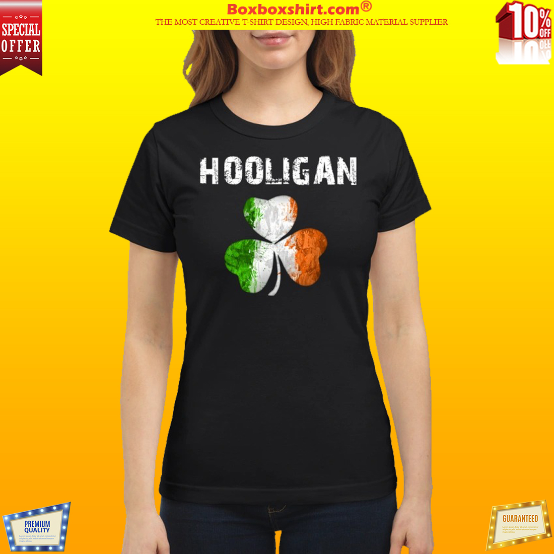 Irish flag shamrock hooligan classic shirt