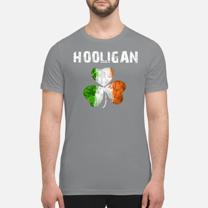 Irish flag shamrock hooligan premium shirt