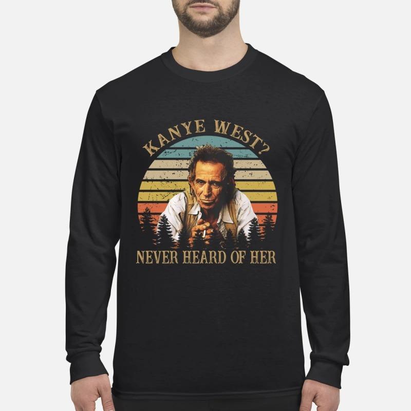 Kanye West never heard of her vintage men's long sleeved shirt