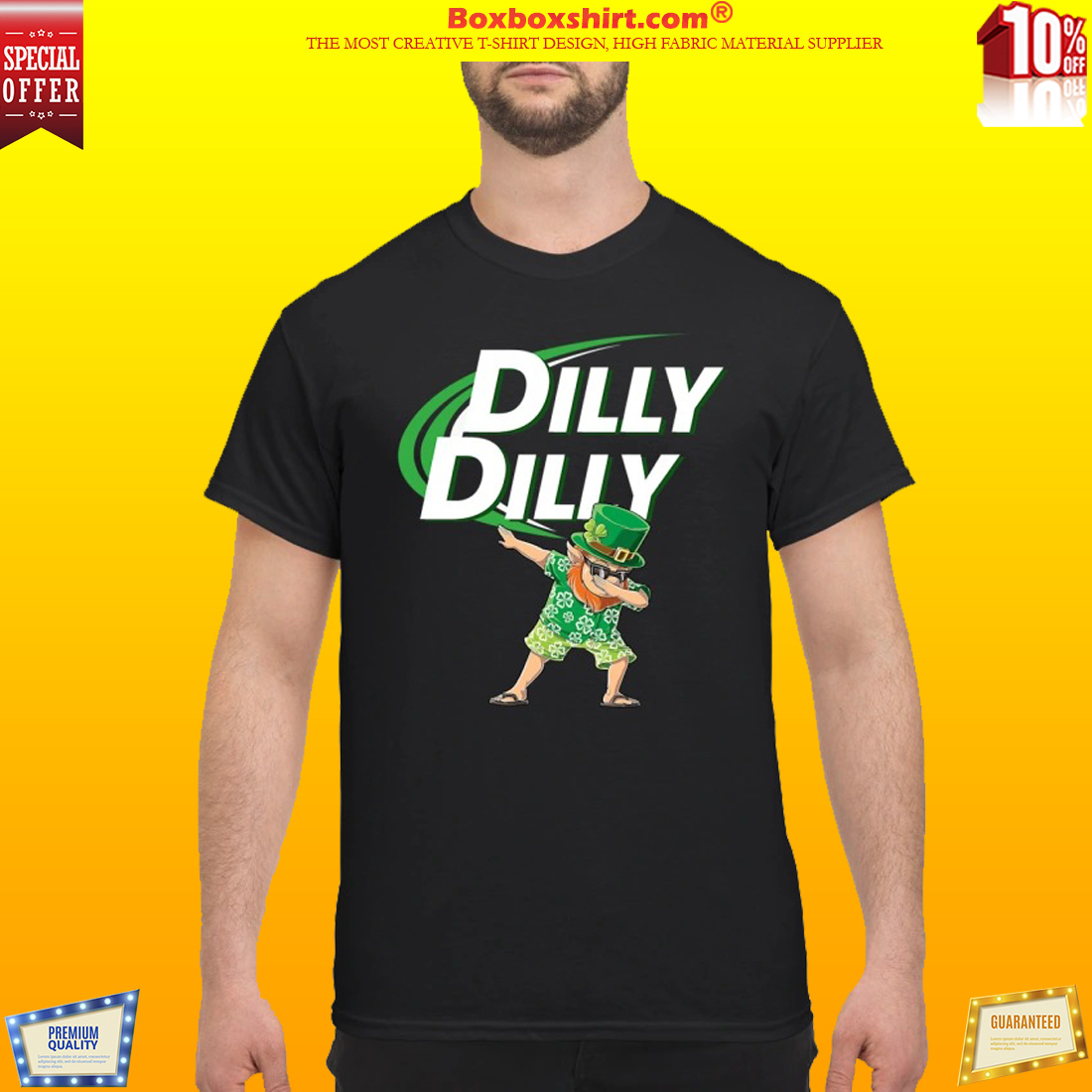 Leprechaun dabbing dilly dilly classic shirt