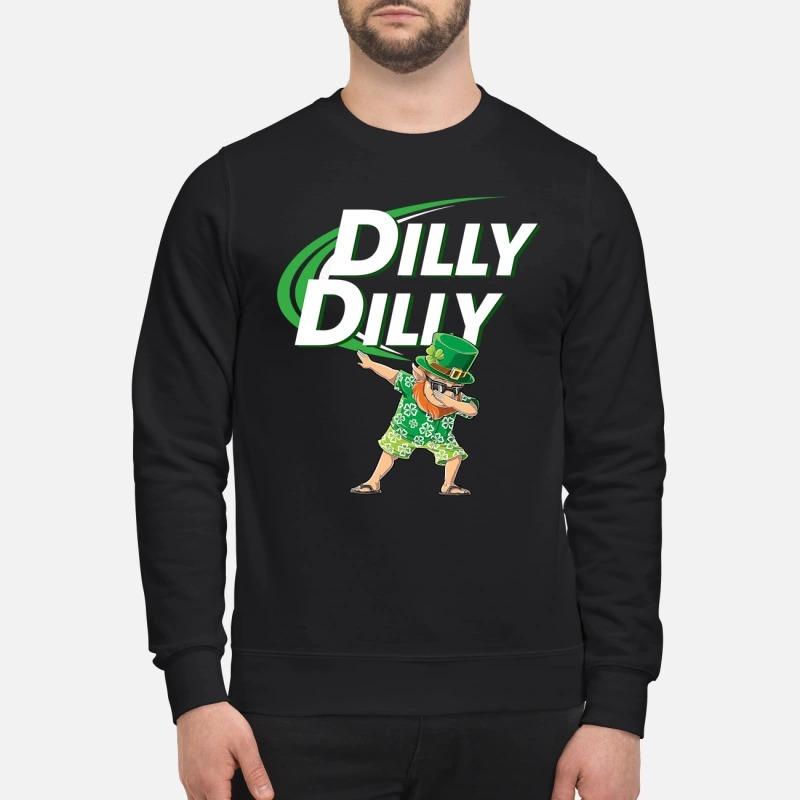 Leprechaun dabbing dilly dilly sweatshirt