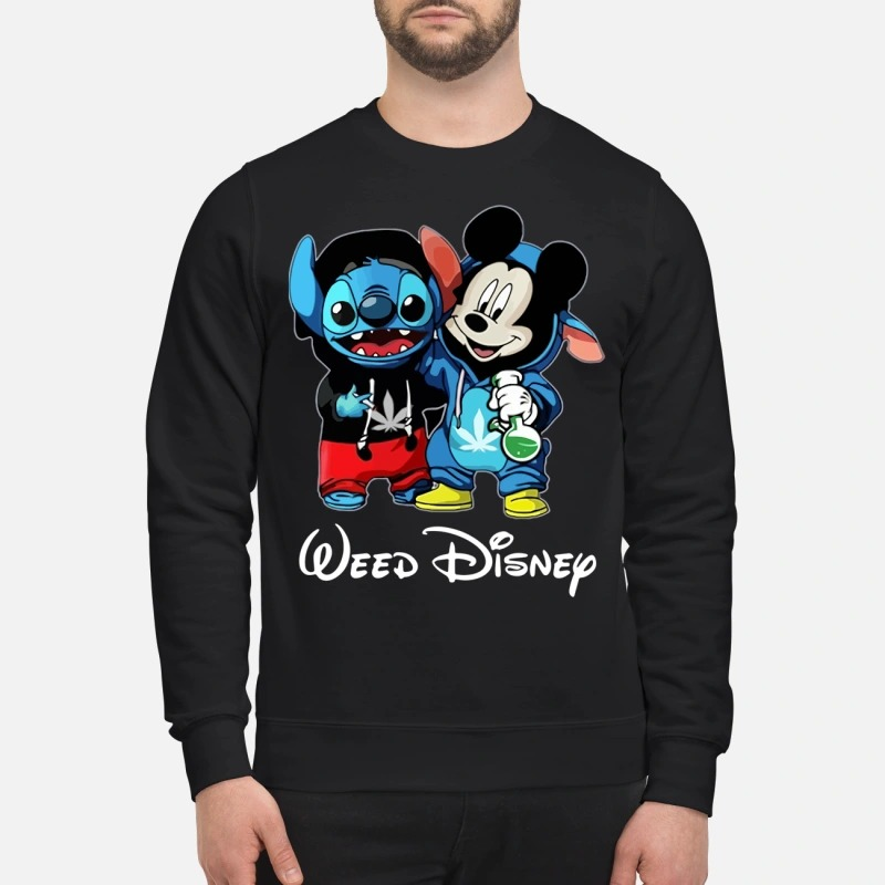 Mickey mouse and Stitch weed disney sweatshirt