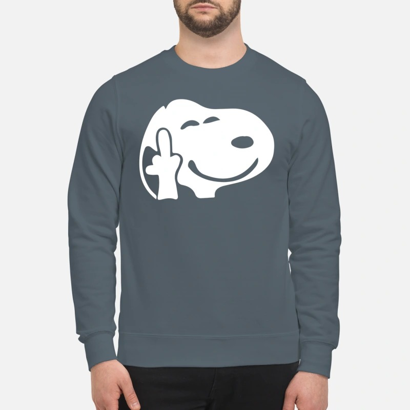 Snoopy middle finger sweatshirt