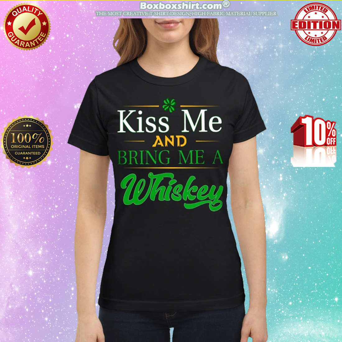 St Patrick Day Kiss me and bring me whiskey classic shirt