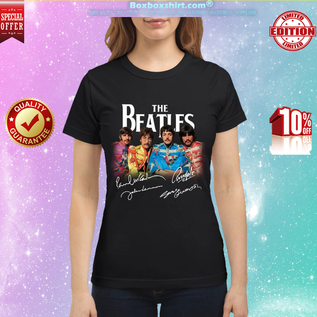 The beatles signatures shirt