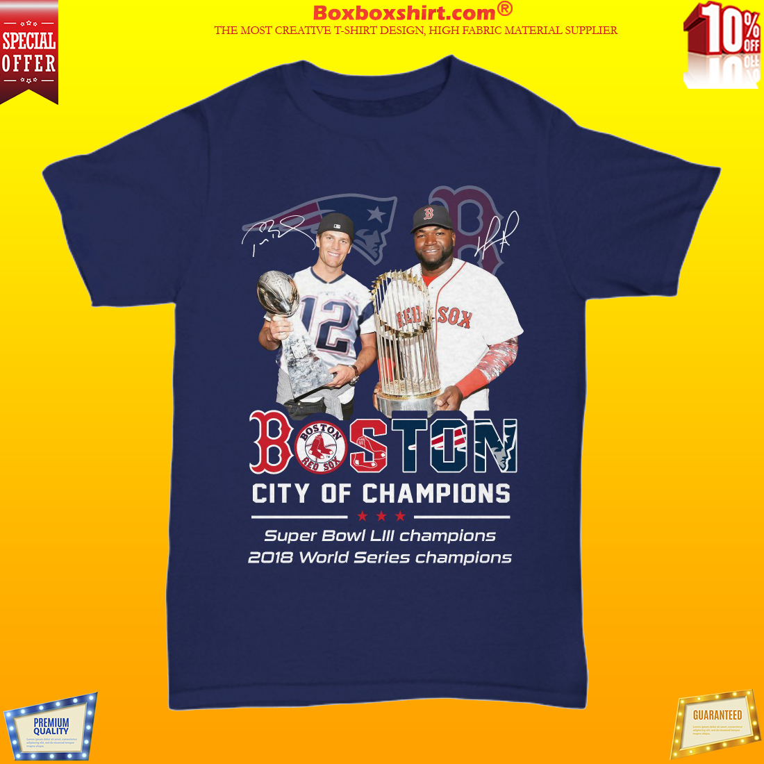 Tom Brady David Ortiz Boston city of champions unisex shirt