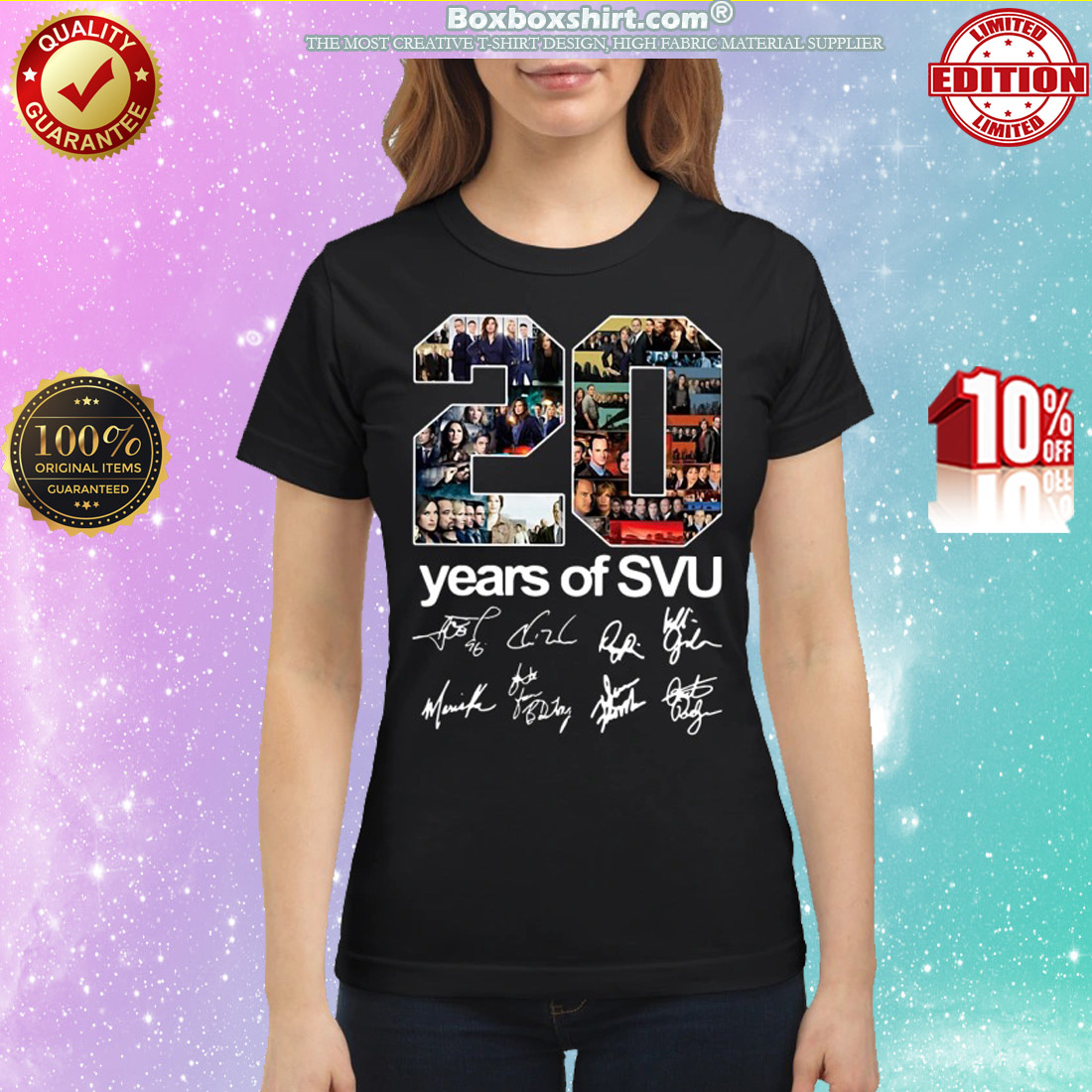 20 years of SVU signatures classic shirt