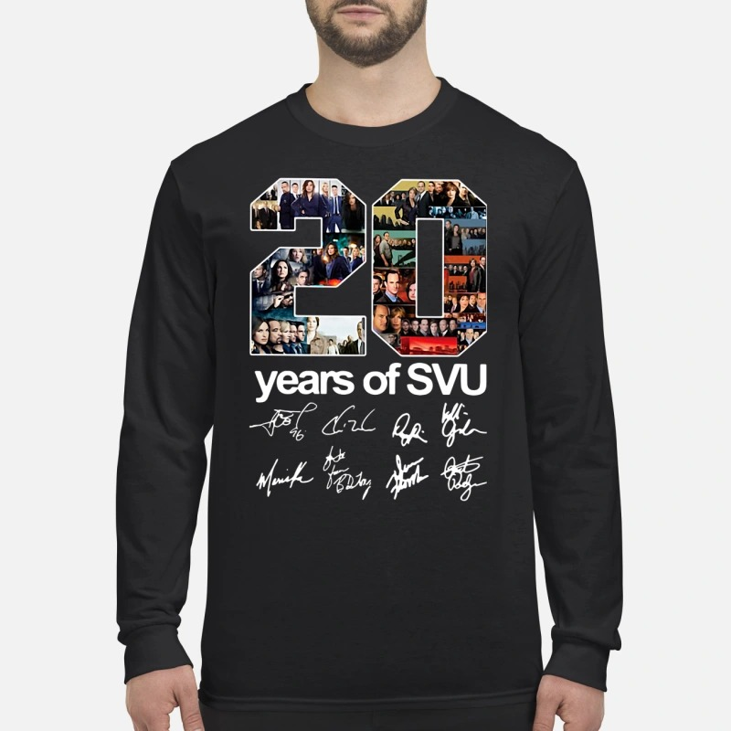 20 years of SVU signatures men's long sleeved shirt