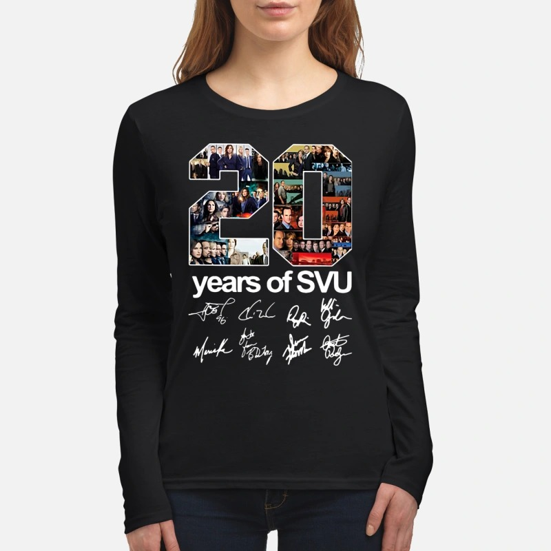 20 years of SVU signatures women's long sleeved shirt