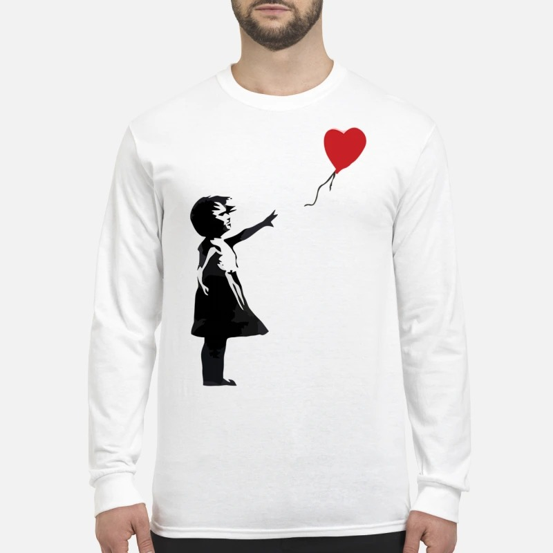 Banksy balloon girl men's long sleeved shirt