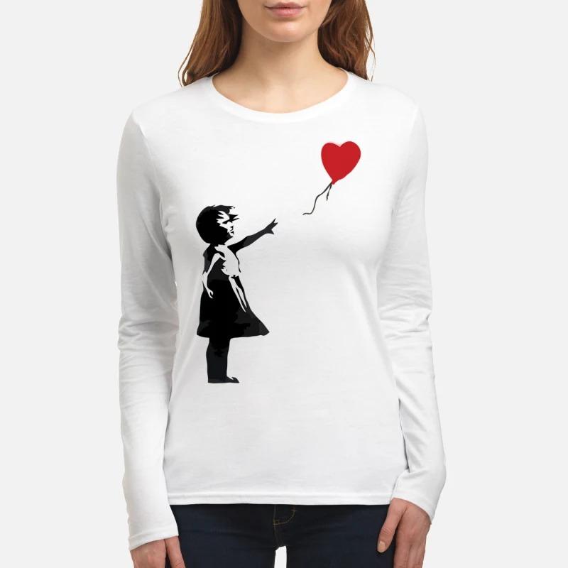 Banksy balloon girl women's long sleeved shirt