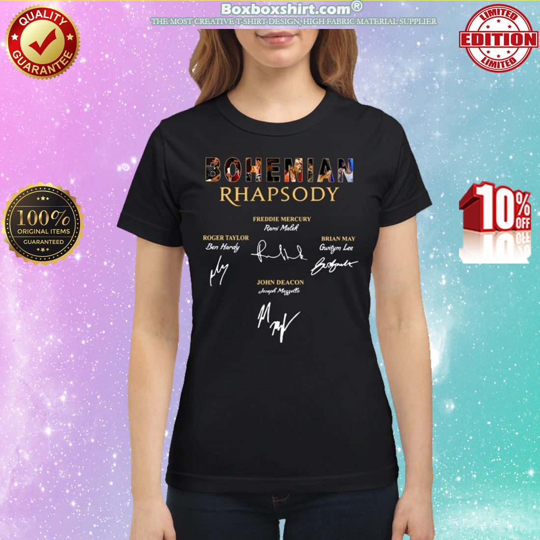 Bohemian Rhapsody Freddie Mercury Signatures classic shirt