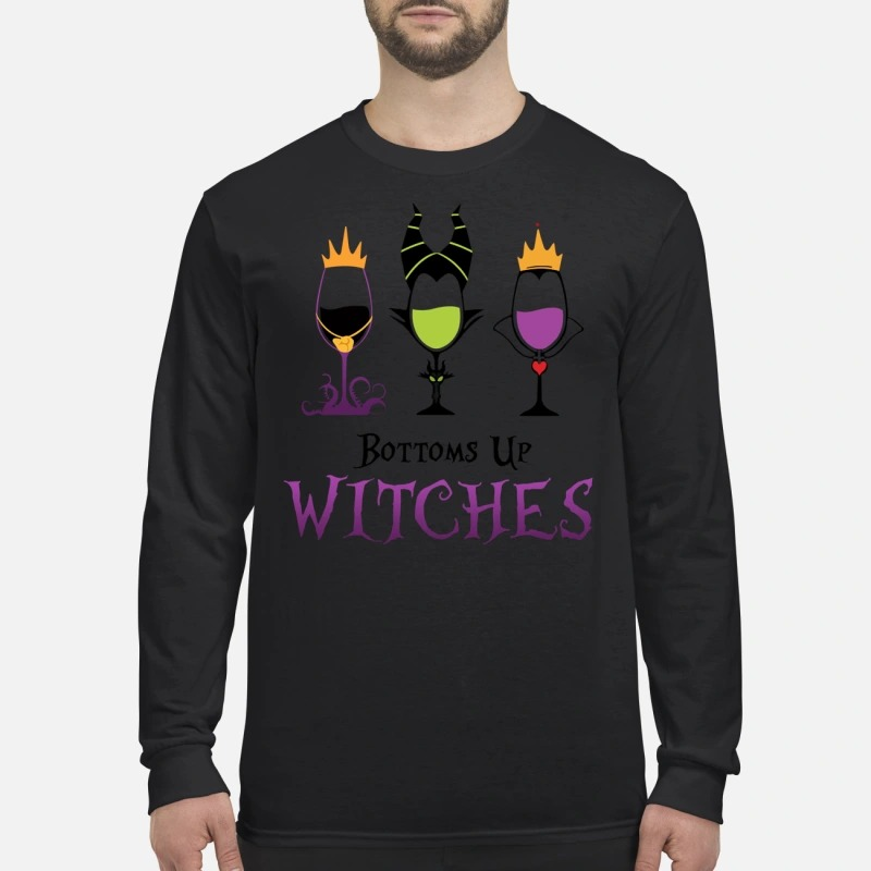 Bottoms up witches Hocus Pocus men's long sleeved shirt