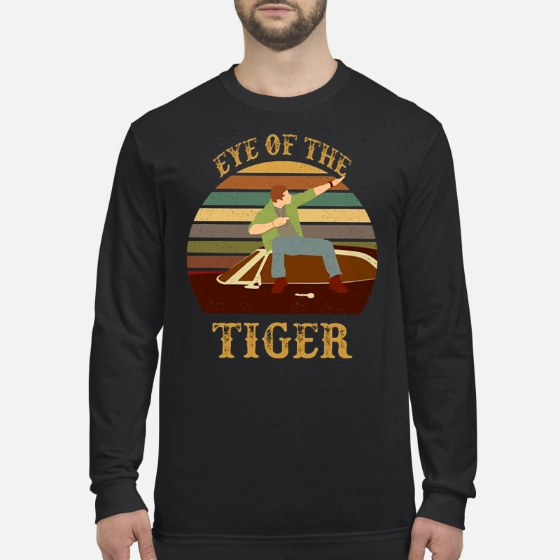 Dean Winchester eye of the tiger men's long sleeved shirt